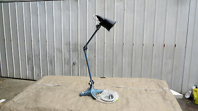 RARE Vintage Industrial Cast Iron Mobilite Bench Lamp -  ex-cond