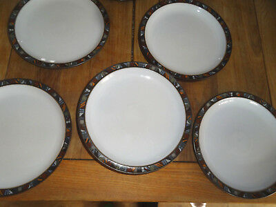 Denby Marrakesh Dinner Plates - - 26cm good condition  -9 available