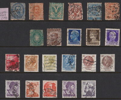 Stamps of Italy:  FROM 1879 (vintage selection) to 1953 --- TOTAL OF 42 STAMPS