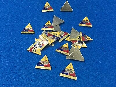 Lot of 25 Vintage US Army 1st Armored Division Metal Emblems - Old Ironsides