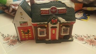 Coca Cola Town Square Collection Flying A Gas - Vintage 1994