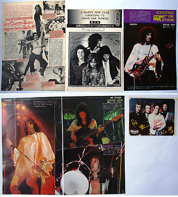 The Queen  Freddy Mercury Brian May  Japanese & German Clipping Cutting Pin/up