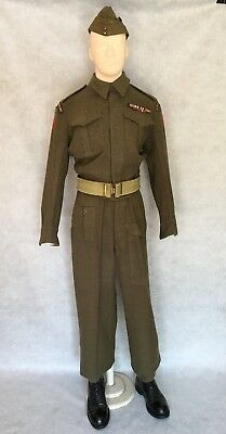 WW2  CANADIAN ARMY BATTLEDRESS -  'HASTY Ps'  (With history)