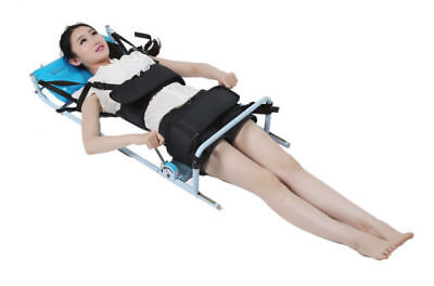 Cervical Spine Lumbar Traction Bed Therapy Massage Body Stretching Device Back ^