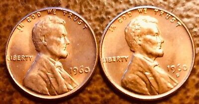 1960 P & D Lincoln Penny Copper Alloy Set Uncirculated BU