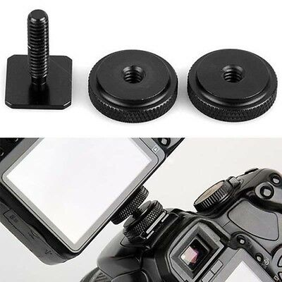 "Durable  3/8"" Tripod Mount Screw to Flash Hot Shoe Adapter Camera Stand XBUK"