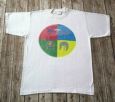 Official Queen Union Jack T-Shirt News Of The World Hot Space The Game Merch