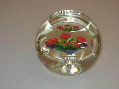 """Stunning Limited Edition Caithness Paperweight """"whitefriars Spring Flowers"""""""