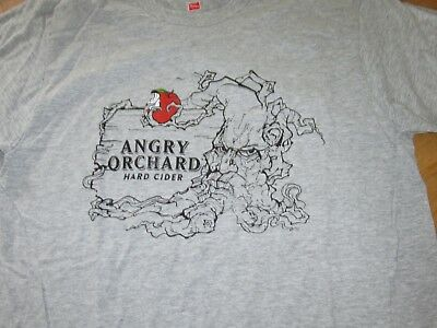 Angry Orchard Hard Cider Womens T-Shirt Size Large Branch Out Gray Casual