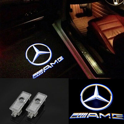 2x AMG Door Ghost Shadow Projector LED Lights For Mercedes-Benz CLS CLA C207