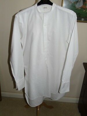 Vintage Men's 'Peaky Blinders' 1940's White Shirt by Emerald Quality Shirts (M)
