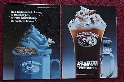 Lot of 20 Diff SOUTHERN COMFORT Whiskey Print Ads ~ Make Your Soda POP Recipes +