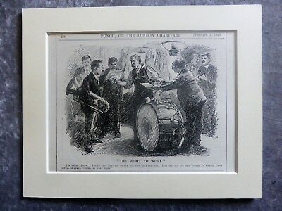 Vintage Punch Cartoon: Music. It's Not Over Until The 400th Drum Beat, 1910.