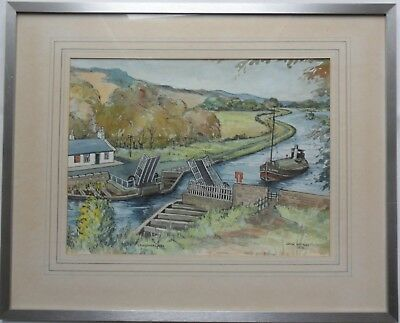 Forth and Clyde Canal Watercolour - Craigmarloch by John Watson, Kilsyth