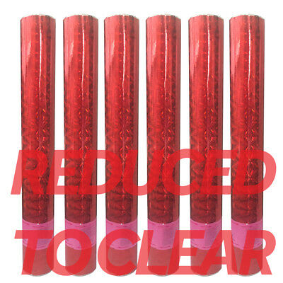 x6 RED FOIL Confetti Cannons Compressed Air Party Shooter Wedding Poppers 60cm