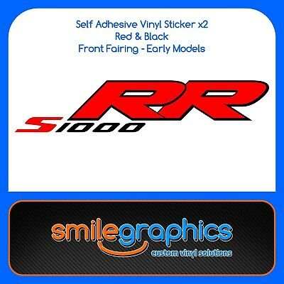 BMW S1000RR Fairing Decals Black Red Stickers early model 1