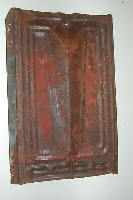 Antique Vintage Tin Ceiling Salvage Reclaimed Tiles (Lot of 12)