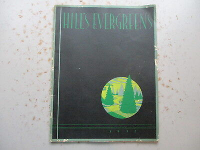 Hill's Evergreens - Large, Colorful Catalog from 1932