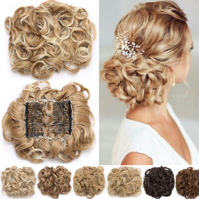 MEGA LARGE THICK Curly Chignon Messy Bun Updo Clip in Hair Piece Extensions LI2