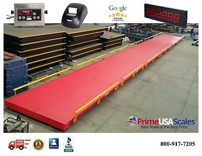 Truck Scale 80 x 10 ft Truck Scale 200,000 lb Steel Deck NTEP APPROVED