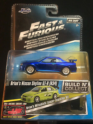 Jada Fast And Furious Build N Collect Brians Nissan Skyline Gt R