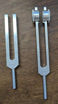 Tuning Fork - 128 and 512 Hz C Tuning Forks for Medical, Neurology, Diagnostic
