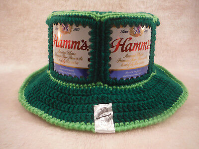 NEW Hamm's Green handmade CanHeads Beer Can Hat - One Size fits all