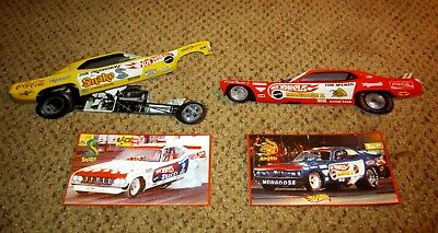 Vintage Style Tom McEwen & Don Prudhomme Snake & Mongoose FUNNY CAR Stickers