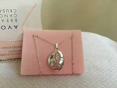 2007 Avon Breast Cancer Crusader Locket Necklace