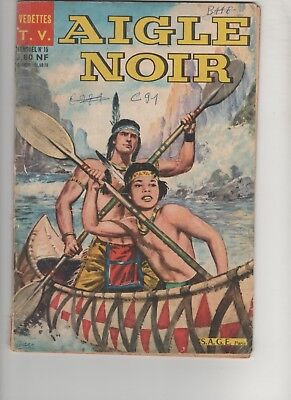 Magazine BD AIGLE NOIR n°15 1962 Editions SAGE Paris  VEDETTES TV