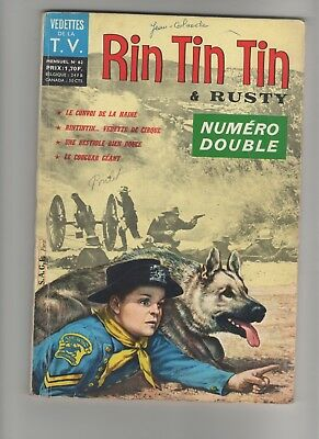 Magazine Rintintin RIN TIN TIN n° 62 1965 NUMERO DOUBLE  Editions SAGE Paris