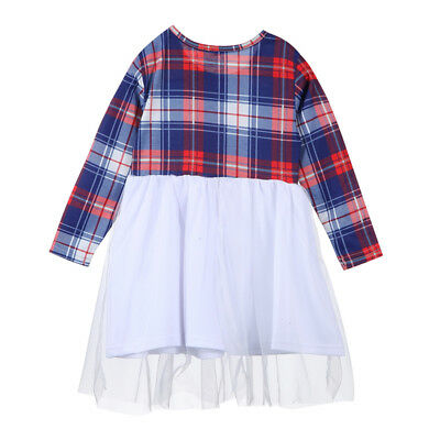 Women Dress Daughter Cocktail Casual Matching Mother And Clothes Family Plaid