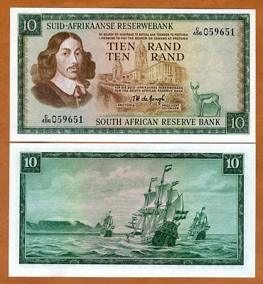 South Africa, 10 Rand, ND (1975), P-114c, UNC > Sailboat