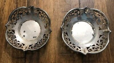 Pair Of Roden Bros Piereced Sterling Silver Nut Dishes 28g