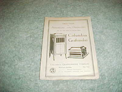 1920s Directions for Assembling and Operating Columbia Grafanolas Booklet