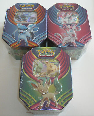 Pokemon - 3er Set Tins 2018 Glaziola-GX + Folipurba-GX + Feelinara-GX - NEU