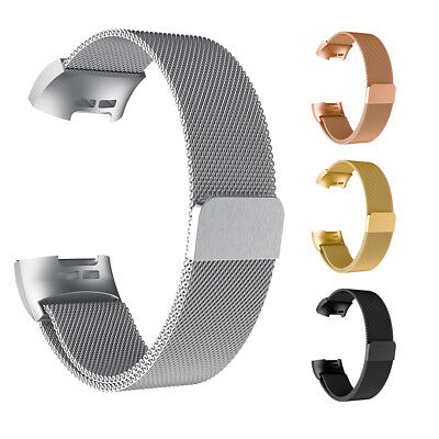 For Fitbit Charge 3 Wristwatch Magnet Milanese Band Stainless Steel Wrist Strap