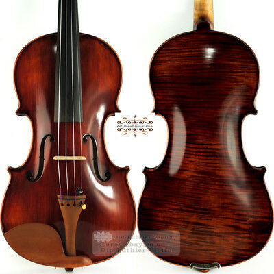 Master Dark Antique Stradivari Style Violin 44 Rich Power Tone Workshop Handmade