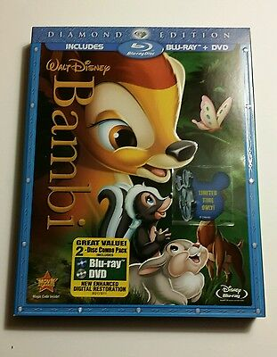 RARE Disney DVD / BLU-RAY BAMBI - DIAMOND EDITION- 2011