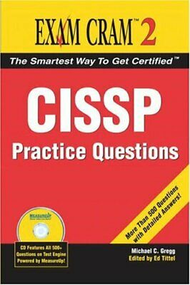CISSP Practice Questions Exam Cram 2 by Gregg, Michael Paperback Book The Cheap