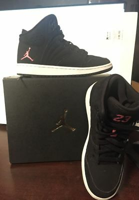 wholesale dealer 98987 bf456 EUC Nike Jordan 1 Flight Prem BG Size 4.5 Black Pink