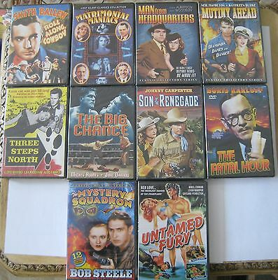 Lot of 10 DVDs Mutiny Ahead, Three Steps North, Big Chance, Fatal Hour, Untamed