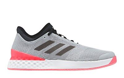 wholesale dealer 7fb2c 17c06 Adidas Mens Adizero Ubersonic 3.0 Silver Black Red Shoes 2018 best Seller
