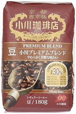 Kyoto Ogawa Instant Coffee Ground Roast PREMIUM BLEND Beans 180g MAD From japan