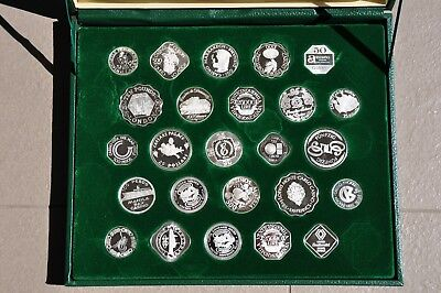 Collection Of 27 Silver Official Gaming Coins Of The Great Casino's