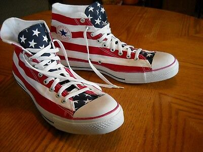 163d5ca8c48b Mens CONVERSE ALL-STAR High-Top Patriotic Sneakers Shoes-Red White Blue