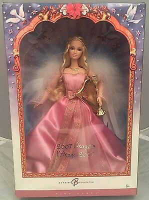 Barbie Angel Doll Pink Label Edition.NEW BOX.Beautiful Pink Dress,Mattel 2007