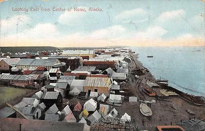 Looking East from Center of Nome, Alaska Vintage AK Postcard ca 1910s