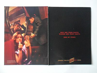 1996 Print Ad Johnnie Walker Red Label Whiskey ~ Men and Women are From Earth