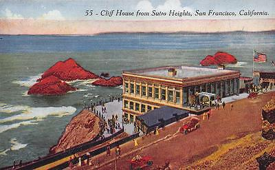 CLIFF HOUSE View from Sutro Heights San Francisco, California Postcard ca 1910s